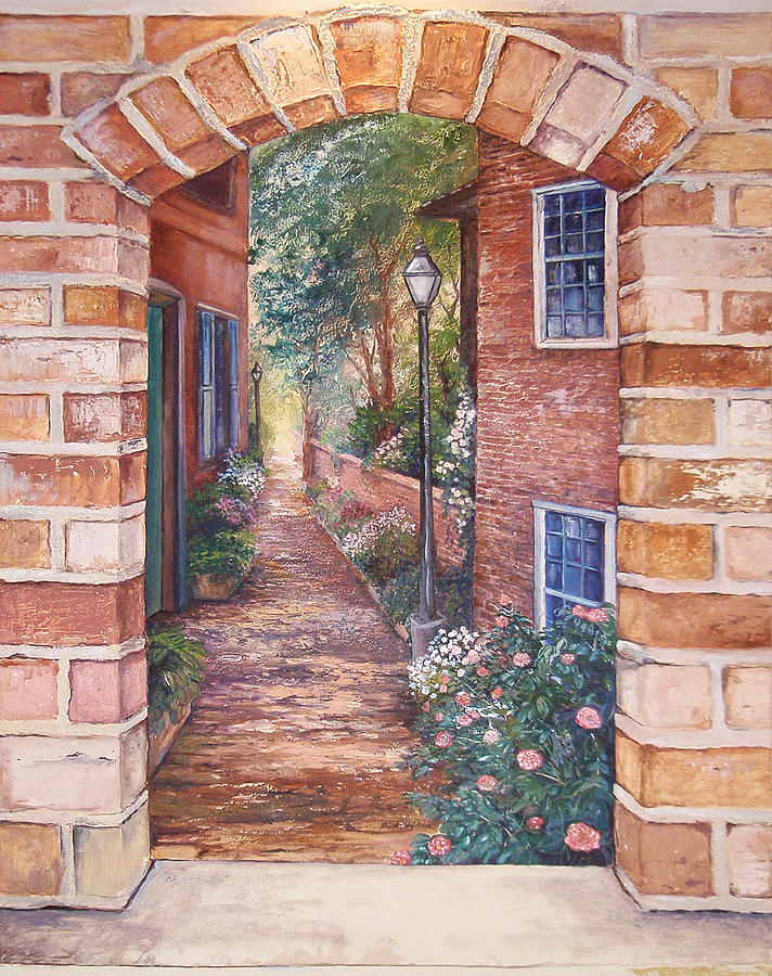 Charleston Painting - Charleston Stroll by Scott Stafstrom