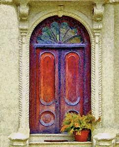 Door Photograph - Charlestown Doorway by Suerae Stein