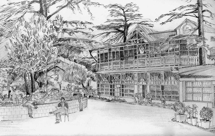 Landscape Drawing - Charleville by Padamvir Singh