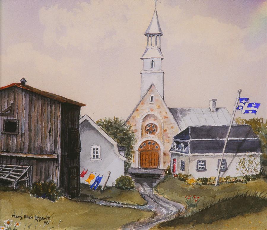 Landscape Painting - Charlevoix Quebec by Mary Ellen Mueller Legault