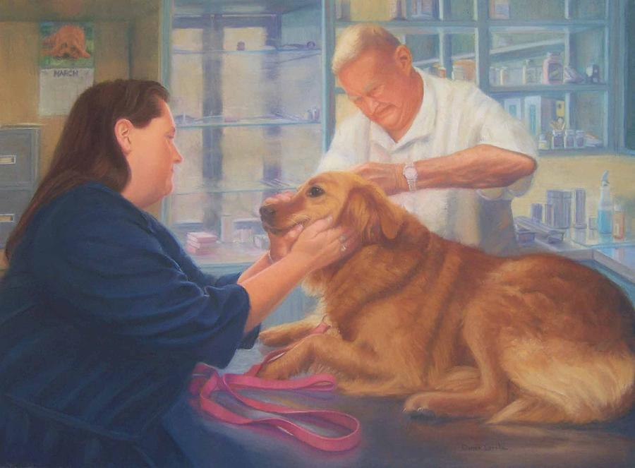Charlie Painting - Charlie and the Vet by Diane Caudle