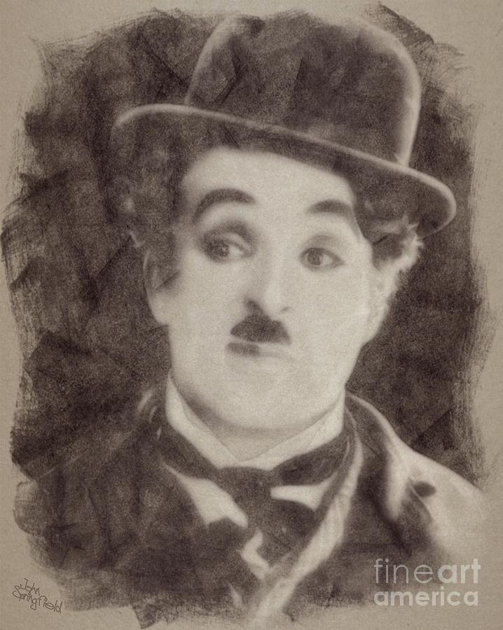 Charlie Chaplin Hollywood Legend Drawing