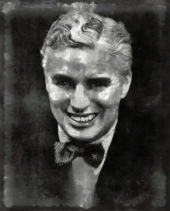 Charlie Painting - Charlie Chaplin Hollywood Legend by Mary Bassett