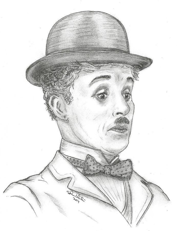 Charlie Chaplin Drawing - Charlie Chaplin by Steven White