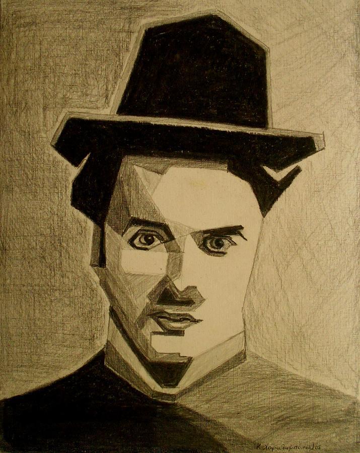 Charlie Chapplin Painting