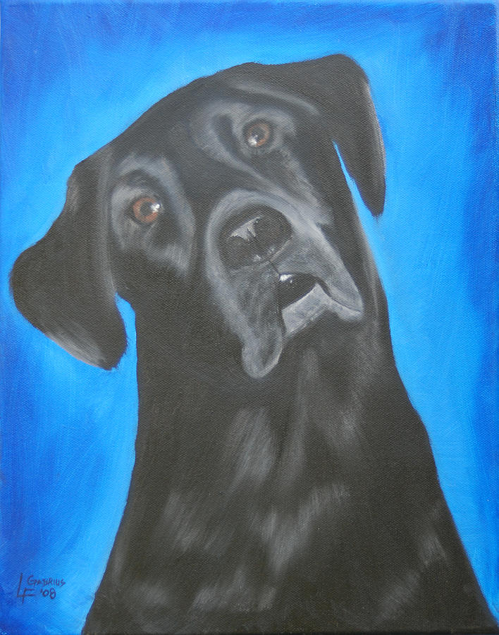 Portrait Painting - Charlie by Lisa Gabrius