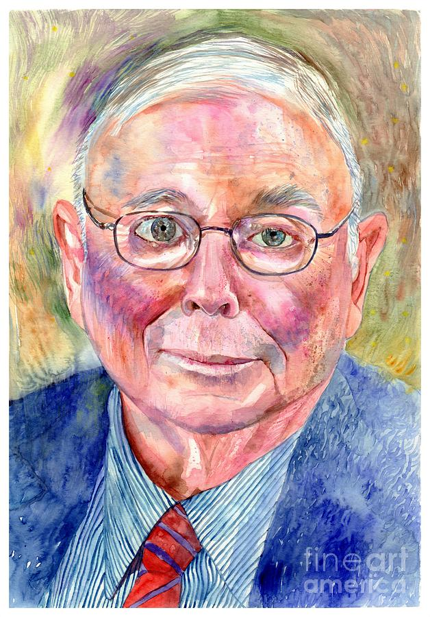Charlie Painting - Charlie Munger painting by Suzann Sines