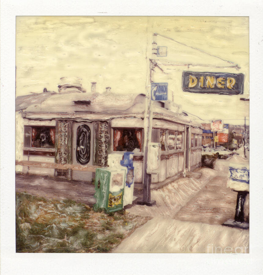 Polaroid Photograph - Charlies Diner - Wilkinsburg by Steven  Godfrey