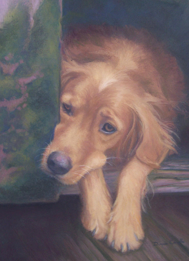 Charlie Painting - Charlies In The Doghouse by Diane Caudle