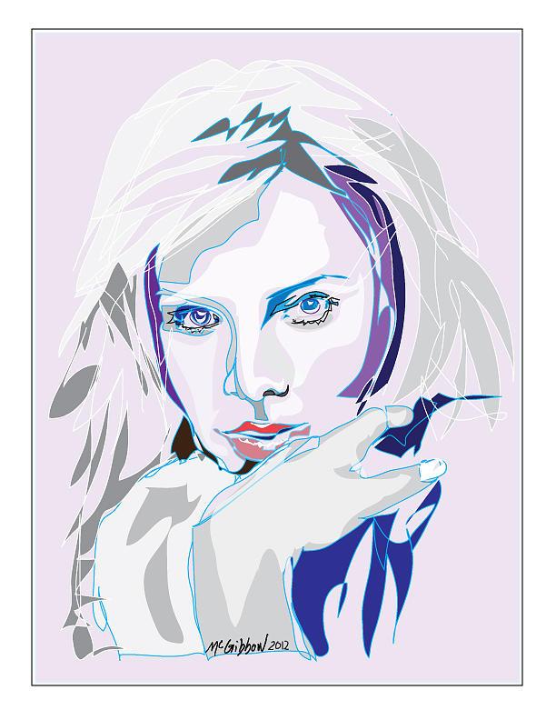 Charlize Theron Digital Art - Charlize Theron by Dan McGibbon