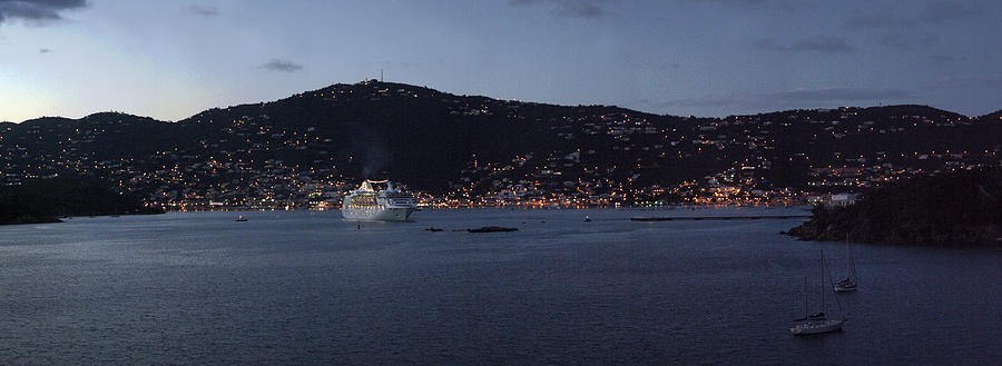 Charlotte Amalie Photograph - Charlotte Amalie At Dusk by Gary Lobdell