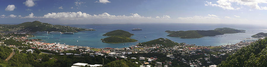 Charlotte Amalie Photograph - Charlotte Amalie From Above by Gary Lobdell
