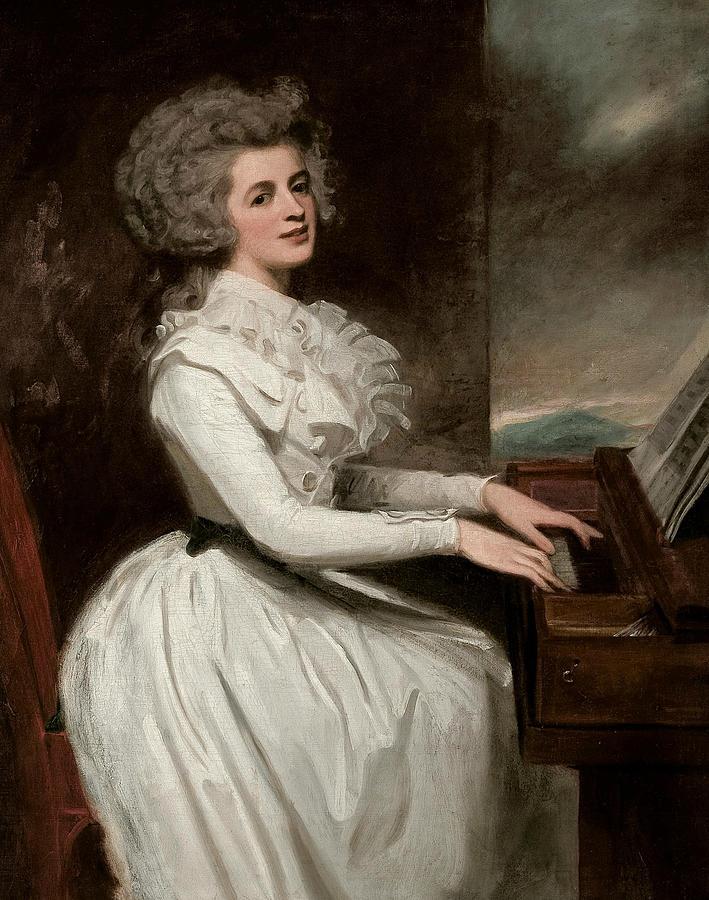 English Painters Painting - Charlotte, Mrs Thomas Raikes by George Romney