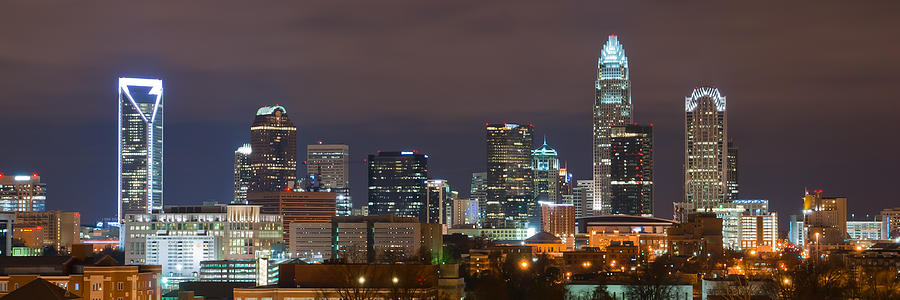 City Photograph - Charlotte Skyline 2012 by Brian Young