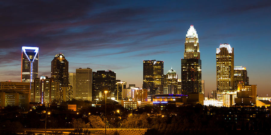 Charlotte Skyline Panorama Photograph By Gregory Hurst