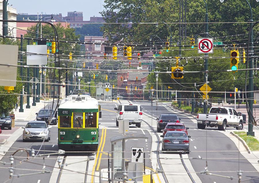 Streetcar Photograph - Charlotte Streetcar Line 2 by Joseph C Hinson Photography