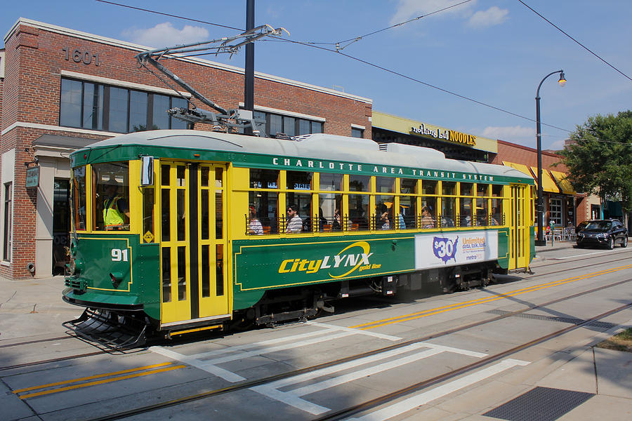 Cats Photograph - Charlotte Streetcar Line 4 by Joseph C Hinson Photography