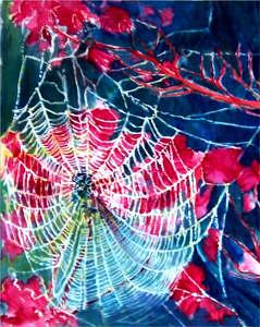 Web Of Life Painting - Charlottes Web by Charlotte Bailey Rierson