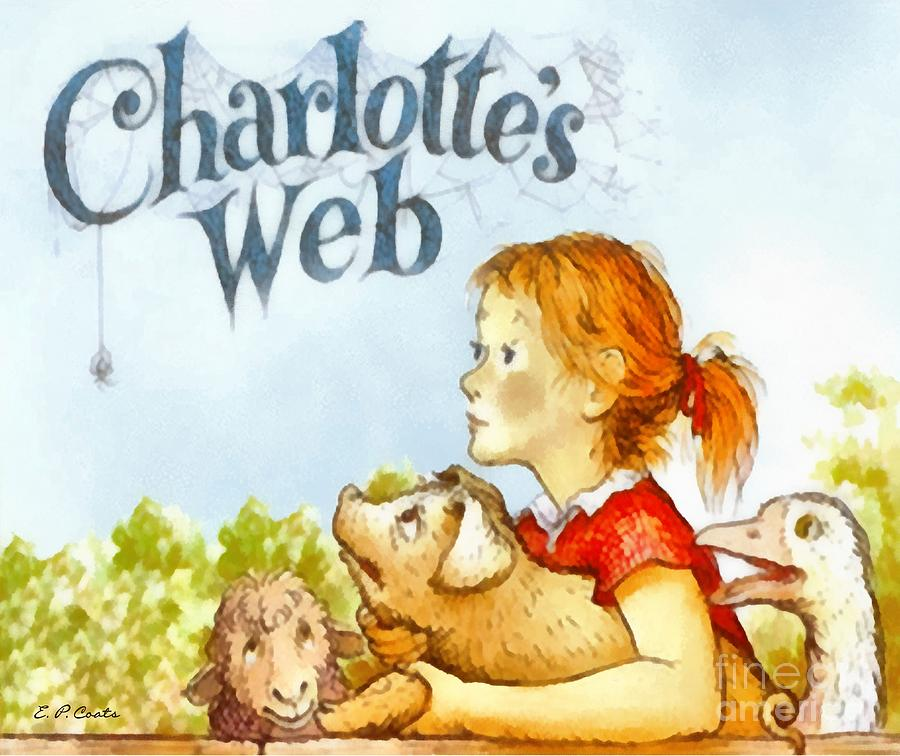 Printable Charlotte S Web Book Cover : Charlottes web painting by elizabeth coats