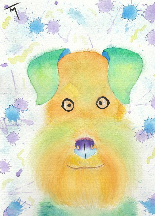 Dog Painting - Charly by Kat Meza