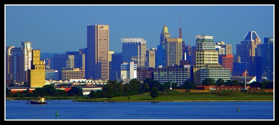 Baltimore Photograph - Charm City Skyline by Darin Bokeno