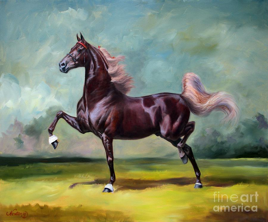 American Saddlebred Painting - Charmed And Bewitched by Jeanne Newton Schoborg