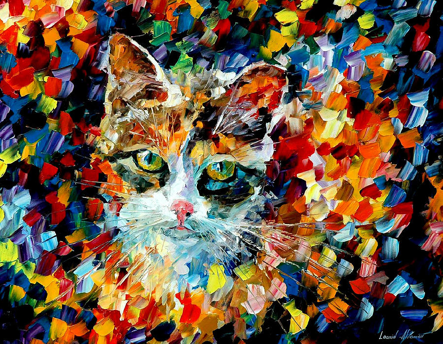 Cat Painting - Charming Cat by Leonid Afremov