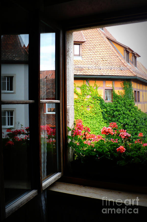Europe Photograph - Charming Rothenburg Window by Carol Groenen