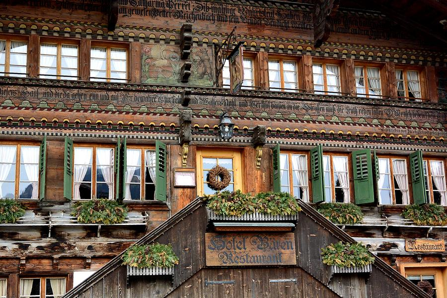 Switzerland Photograph - Charming Swiss Chalet by Two Small Potatoes