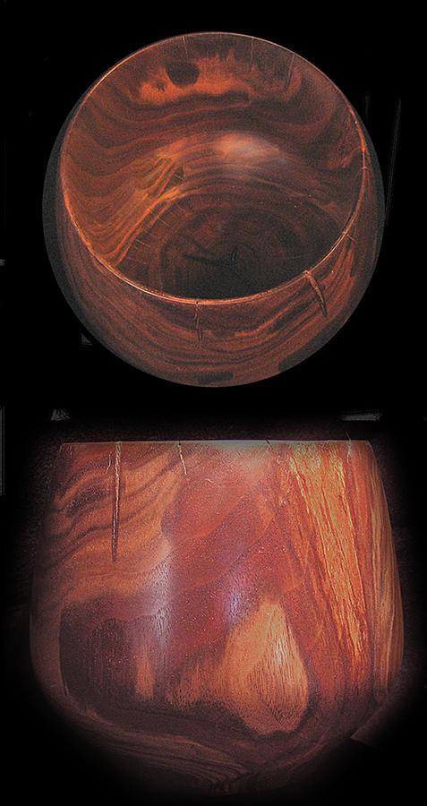 Charro Walnut Bowl Sculpture by Chuck Turigliatto