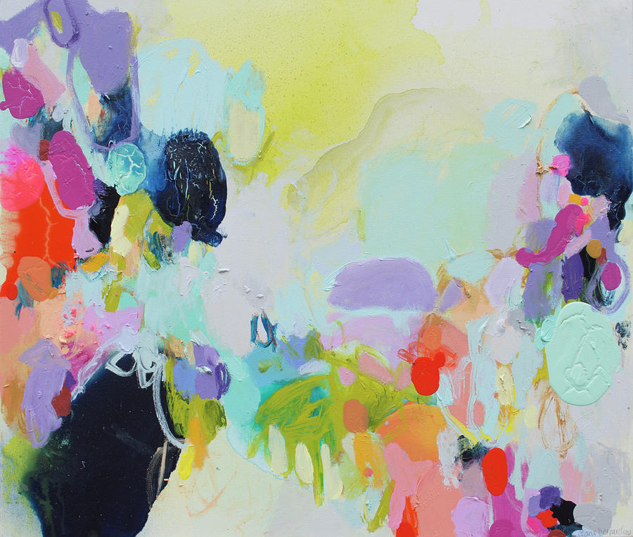 Abstract Painting - Chartreuse Stop by Claire Desjardins