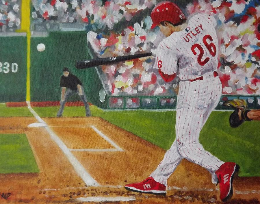 Ballpark Painting - Chase by Al Fonollosa
