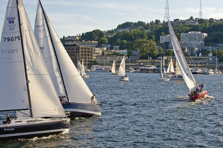 Seattle Photograph - Chase Boats by Tom Dowd