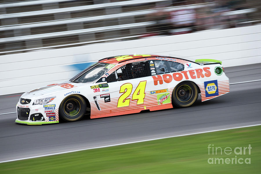 Chase Elliot At Speed Photograph