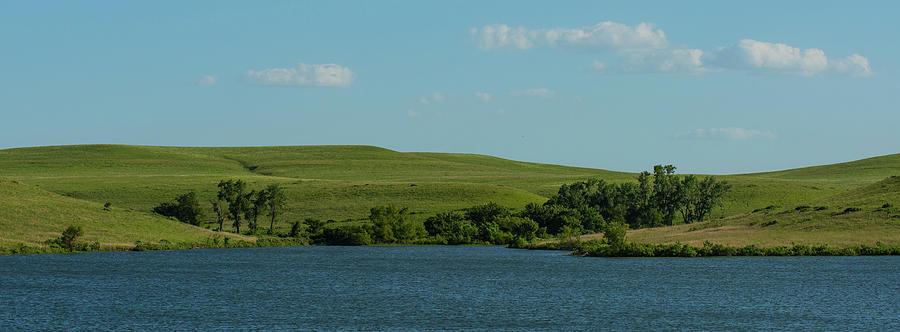Kansas Photograph - Chase Lake Pano 1 by David Drew
