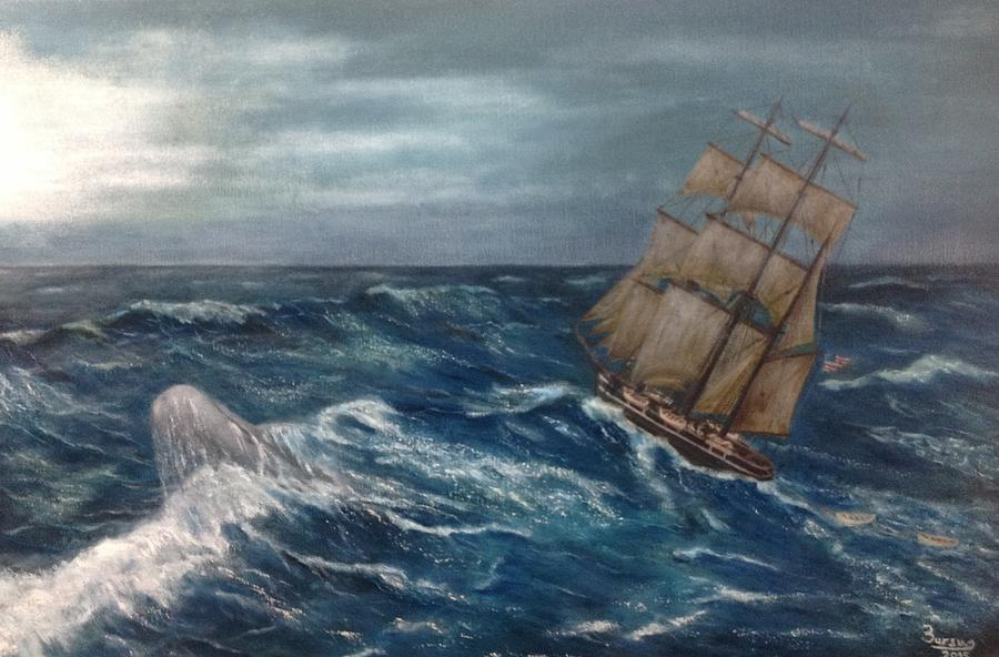 Ocean Painting - Chasing Moby Dick by Bruno Angius