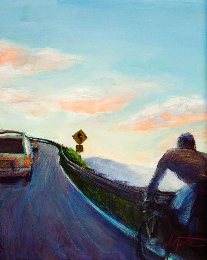 Sunset Painting - Chasing Sunset by Athena Mantle
