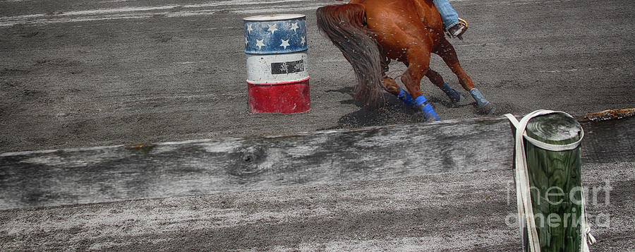 Barrel Race Photograph - Chasing The Barrel  by Steven Digman