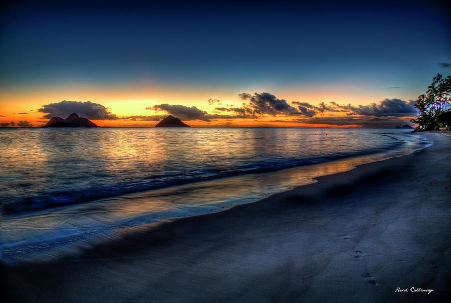 Chasing The Night Off Lanikai Beach Sunrise Hawaii Collection Art