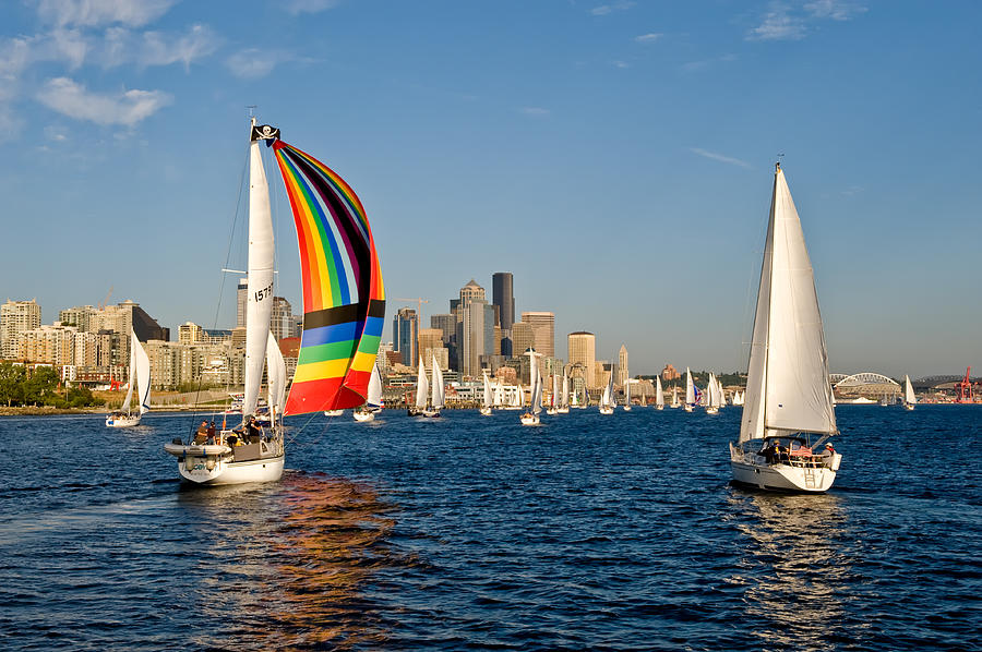 Seattle Photograph - Chasing The Rainbow by Tom Dowd