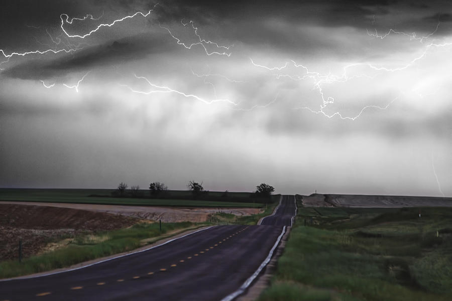 \boardroom Art\ Photograph - Chasing The Storm - Bw And Color by James BO  Insogna