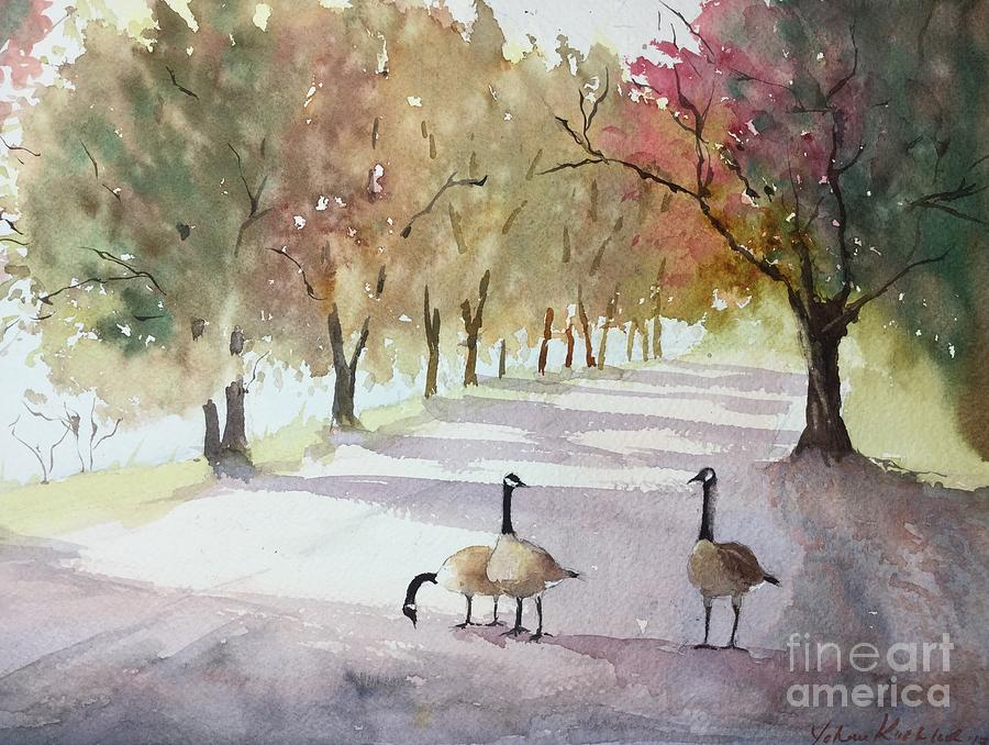 Chat In The Park Painting by Yohana Knobloch