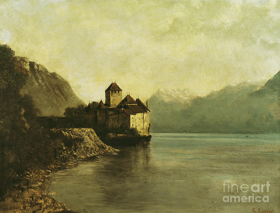 Chateau Painting - Chateau De Chillon by Gustave Courbet