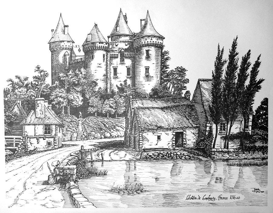 Cityscape Print - Chateau De Combourg France 1016ad by John Cullen