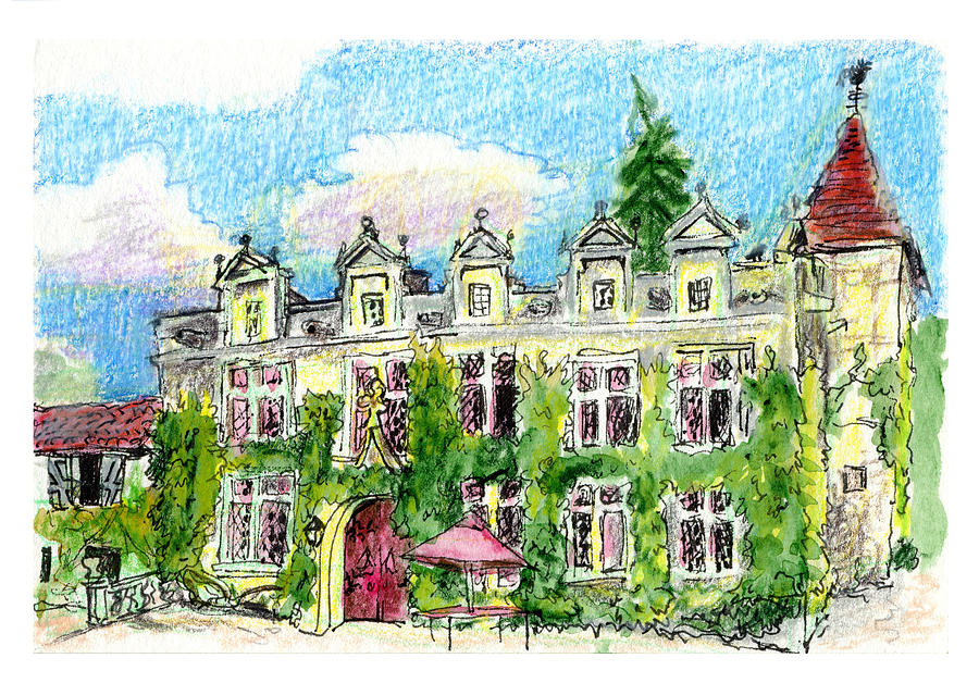 French Painting - Chateau De Maumont by Tilly Strauss