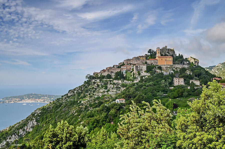 Landscape Photograph - Chateau Deze On The Road To Monaco by Allen Sheffield