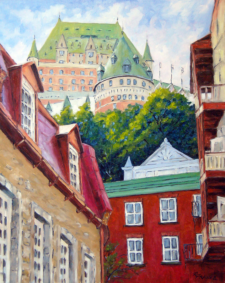 Town Painting - Chateau Frontenac 02 by Richard T Pranke