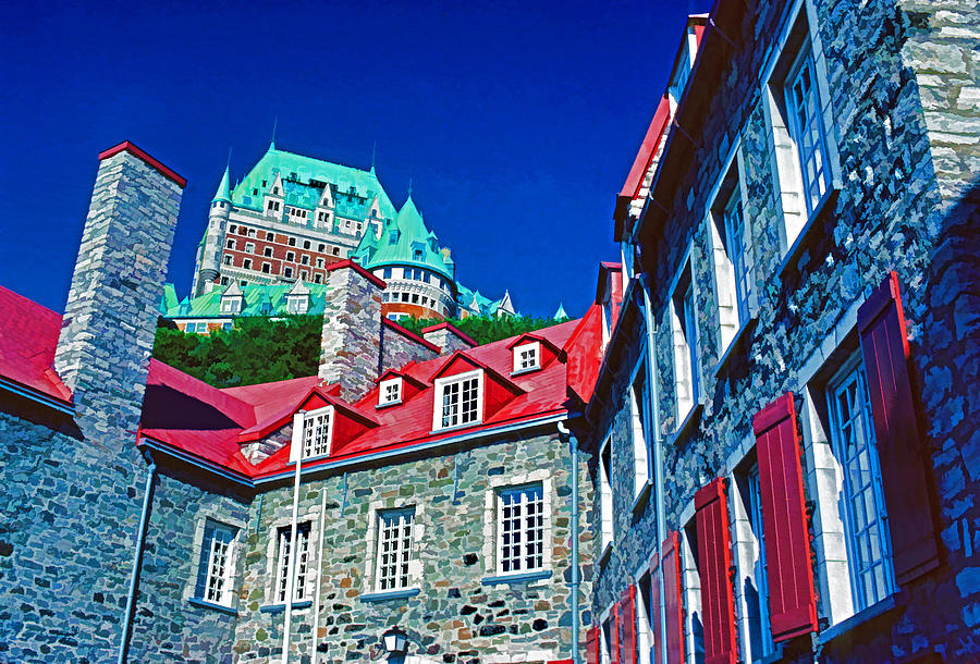 Quebec City Photograph - Chateau Frontenac by Dennis Cox