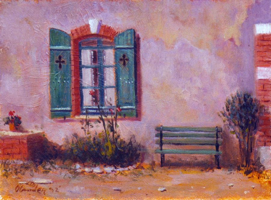 Chateau Pioget  Loire Valley France Painting by David Olander