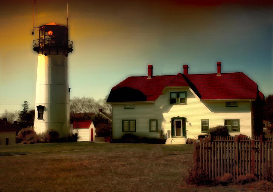 Lighthouse Photograph - Chatham Lighhouse by Gina Cormier